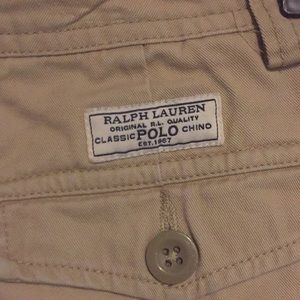 Polo by Ralph Lauren Bottoms - Boys Polo Ralph Lauren khaki cargo shorts